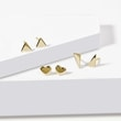 Minimalist stud earrings in gold