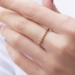 GOLDENER DIAMANTRING - TRAURINGE FÜR DAMEN -