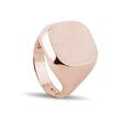 Signet ring in rose gold