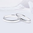 Diamond wedding ring set in white gold