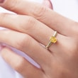 VINTAGE CITRINE RING IN YELLOW GOLD - CITRINE RINGS - RINGS
