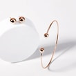 Minimalist stud earrings in rose gold