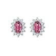 Tourmaline and diamond earrings in white gold