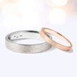 WEDDING RINGS IN ROSE AND WHITE GOLD - COMBINED RINGS - WEDDING RINGS