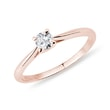 Gentle ring in pink gold with diamond
