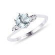 AQUAMARINE DIAMOND RING IN WHITE GOLD - AQUAMARINE RINGS{% if category.pathNames[0] != product.category.name %} - {% endif %}