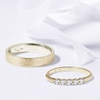 Gold wedding rings with diamonds