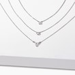 DIAMOND NECKLACE IN WHITE GOLD - DIAMOND NECKLACES - NECKLACES