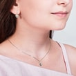 Diamond angel charm for children in 14kt gold