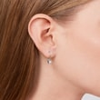 DIAMOND EARRINGS IN 14KT WHITE GOLD - DIAMOND EARRINGS -