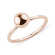 Golden orb ring in rose gold
