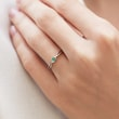 EMERALD RING IN WHITE GOLD - EMERALD RINGS -