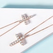 DIAMOND CROSS PENDANT IN 14KT ROSE GOLD - DIAMOND NECKLACES - NECKLACES