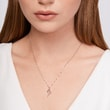 Elegant diamond necklace in white gold