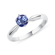 Sapphire ring in 14kt white gold