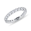 Diamond eternity ring in white gold