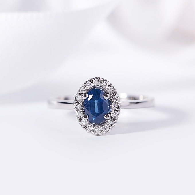 Sapphire, a precious gemstone with the color of the night sky