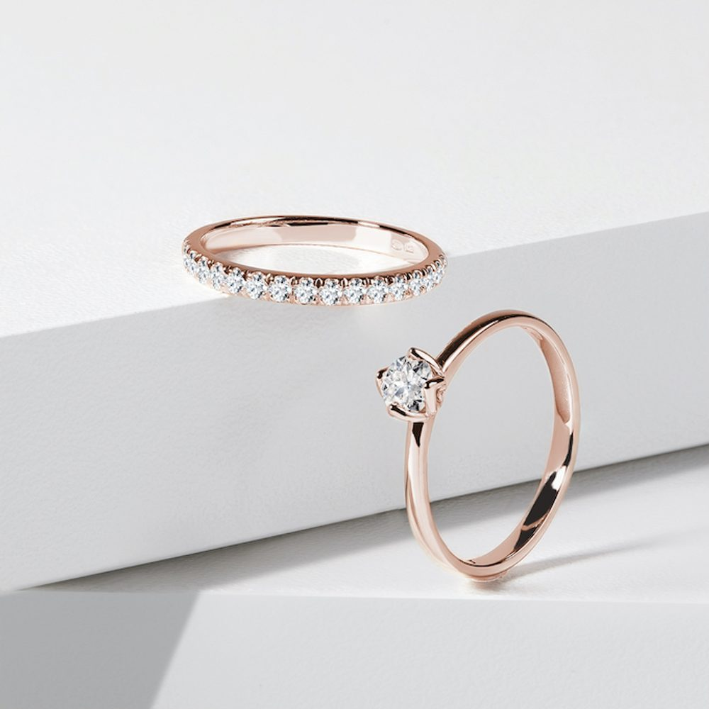 An engagement and a wedding ring - a perfectly matched pair