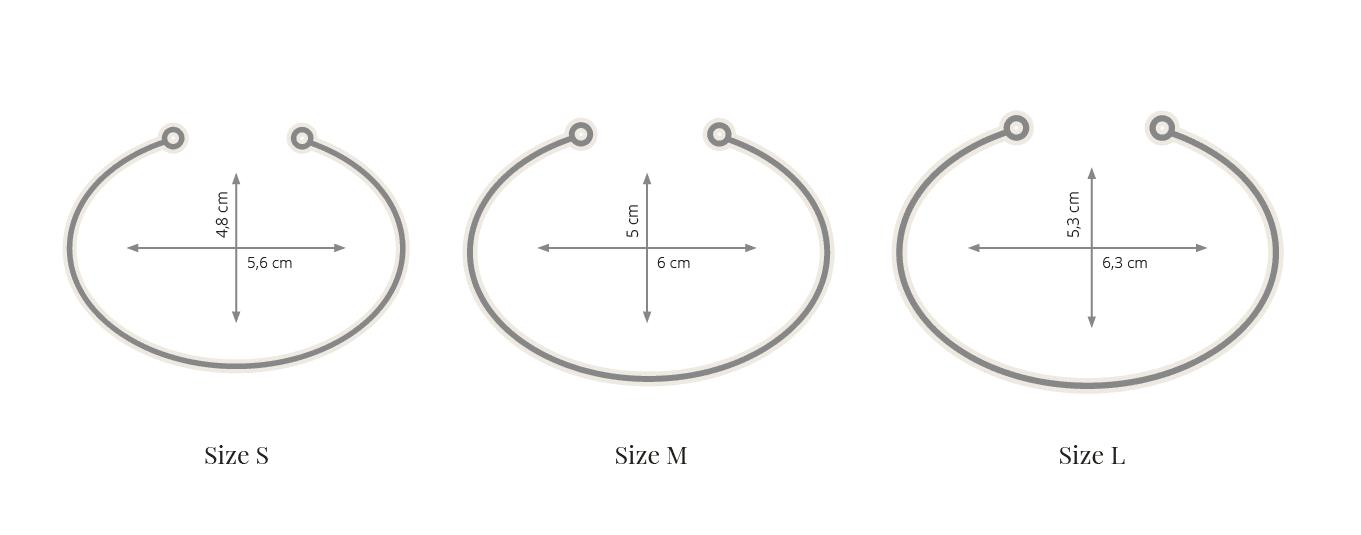 flexi náramky velikosti KLENOTA
