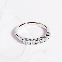 White gold wedding ring with diamonds for her