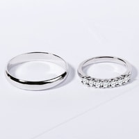 White gold wedding rings - ring for her with diamonds