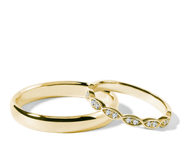 Alliances de mariage en Or jaune