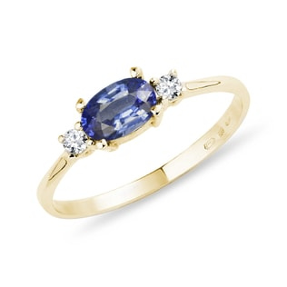 Bague en or, diamants et tanzanite
