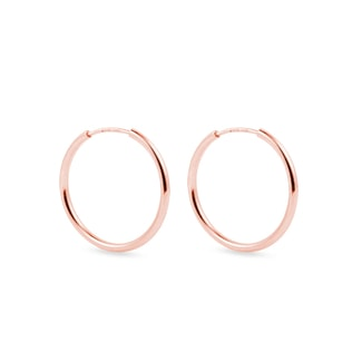 2 cm rose gold hoop earrings