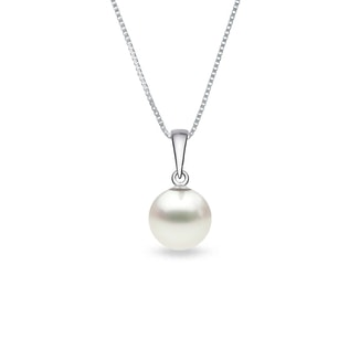 Pearl pendant in white gold
