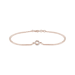 Bracelet en or rose avec diamants