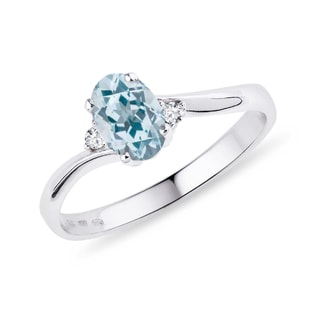 Topaz and diamond ring in sterling silver