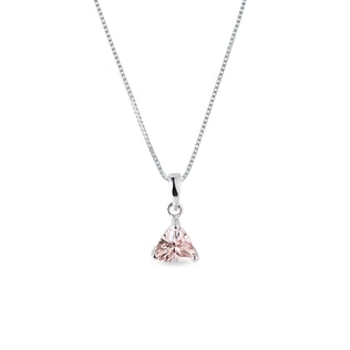 Pendant made of white gold with morganite