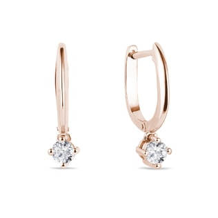 Hoop diamond earrings in rose gold