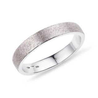Men's wedding ring made of white gold