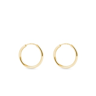 16 mm hoop earrings in yellow gold