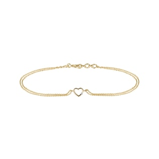 Golden bracelet with heart