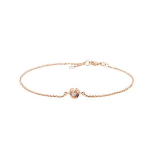 Diamond heart bracelet in rose gold