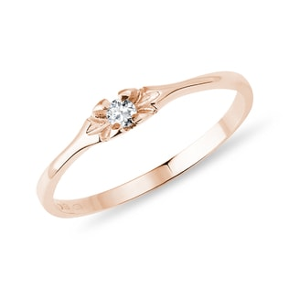 Diamantring in Roségold
