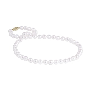 Pearl necklace with a yellow gold clasp