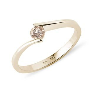 Diamant-Ring in Gelbgold