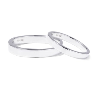 Wedding ring set in white gold