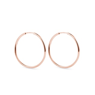25 mm Hoop earrings in rose gold