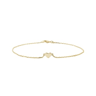 Heart bracelet in yellow gold