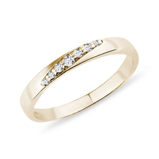 Women's gold ring with diamonds
