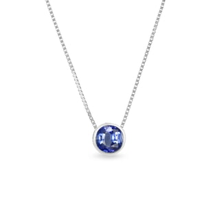 Sapphire charm in 14kt gold