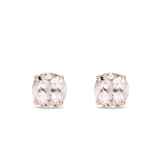 Morganite stud earrings in 14kt rose gold