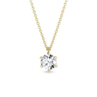 Luxury gold pendant with diamond 0,96ct