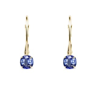 Sapphire earrings in 14kt gold
