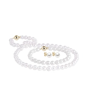 Akoya pearl jewelry set