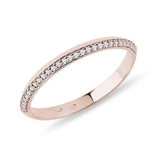 Rose gold and diamond wedding ring